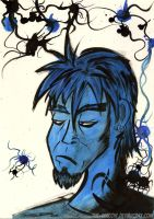 Portrait of a Blue Bastard by The-Seacow