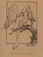 Griffin - Inktober 2016 by MyBeautifulMonsters
