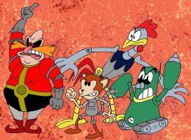 Robotnik and the SSSS Squad by LazyAsHell