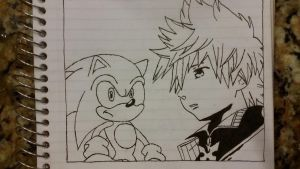 Sonic and Roxas W.I.P by MyPicts
