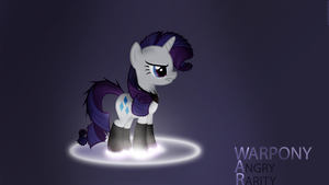 WarPONY - Angry Rarity by Elalition