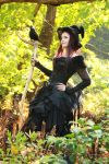 Stock - Halloween witch with raven smile 7 by S-T-A-R-gazer