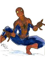 Watercolor Study - Spiderman! by Jacobtm92
