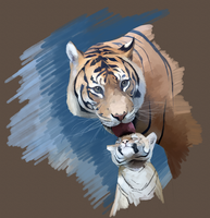 Tiger and Cub study by Gemneroth