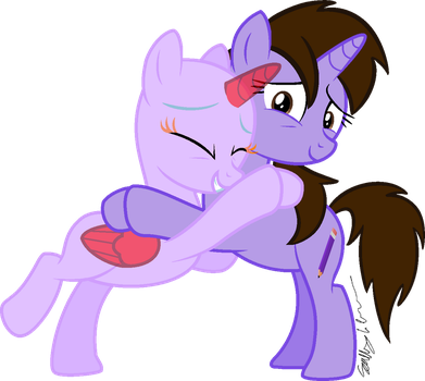 Collab - Hugs! by Pack-Leader-Sally