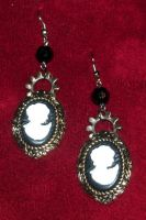 Cameo Gear Earrings by LadyMidnight81