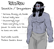 [Skyrim] The Dragonborn: Roldren |  Redesign by PaperInquisitor