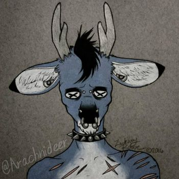 Roadkill Anthro Bust by Arachnideer