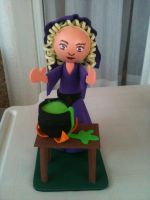 Witch foam rubber figure by anapeig