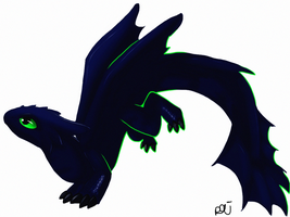 Night fury Toothless by xezeno