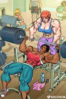 Weightlifting Muscle Women by muscle-fan-comics