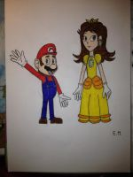 Gift - Mario and Daisy by Gallerica