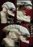 Alien life size sculpture -WIP by RavenMorgoth