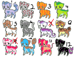 FREE OR 1 POINT ADOPTS!!!! CLOSED by CinderleafAdopts
