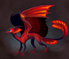Red dragon by griffsnuff