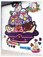 Kawaii Icre Cream Sundae Mural by KawaiiUniverseStudio