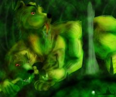 Cerberus and the River Styx by pinafta1