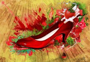 Red Shoe by robinweatherall
