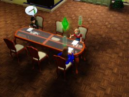 Sims 3 - Denise joins us for homework assignments by Magic-Kristina-KW