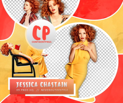Png Pack 456 // Jessica Chastain by confidentpngs