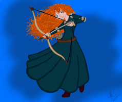 Merida and her Bow by Maygirl96