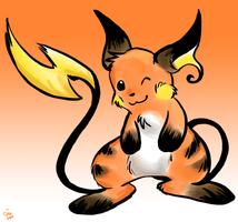 Brush Raichu by raizy