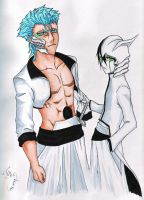 Ulquiorra and Grimmjow by ravefirell