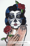 Day of the Dead Tattoo Design by Lady-Elizriel