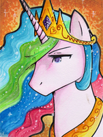 Princess Celestia ACEO by xCastra