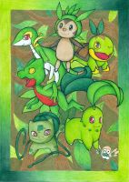 Grass Starters by DeathTheDragon