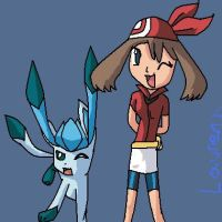 May and hewr glaceon by Freezetheglaceon