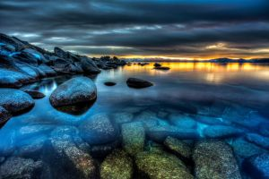 East Shore Lake Tahoe Evening by sellsworth