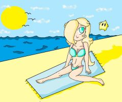 rosalina at the beach by ninpeachlover