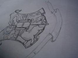 Hogwarts Shield in process 2 by privatecomedy