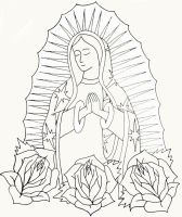 Virgin of Guadalupe by onfire4Him