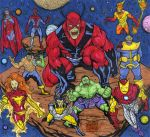 MARVEL ZOMBIES six sketch card puzzle commission by mdavidct