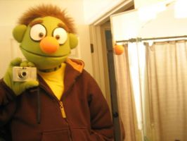 Self made Avenue Q puppet by Immarumwhore