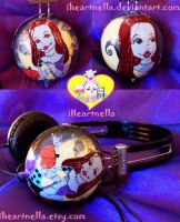 Nightmare Sally Headphones by Iheartnella
