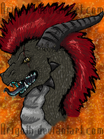 iscribble Dragon Head by Arigoth