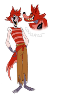 human!foxy by coulrophiliacs
