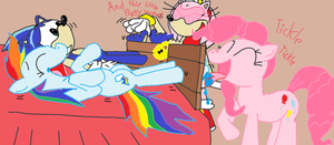 Sonic and Rainbow Dash Torchured by comedyestudios