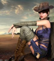Desert Cowgirl by anitalee