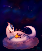 LugiaxPikachu good night by hummeri9