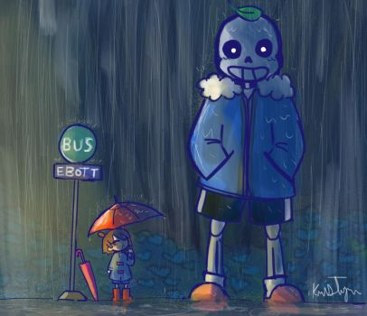 My Neighbor Sans Bus by Friendlyfoxpal