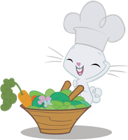 Chef Angel Bunny at your service! by TheFlutterKnight