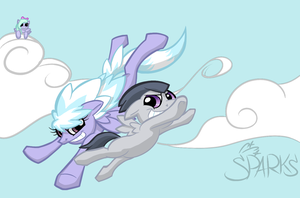 Rumble and Cloudchaser by Elslowmo