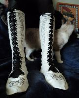 Leather boots by LeTrefle