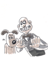 DSC 2013-04-29 Wallace & Gromit by theEyZmaster