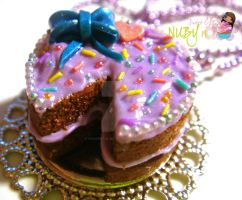 Chocolate Cake on a Plate by colourful-blossom