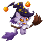 chao Blaze as witch by Extra-Fenix
